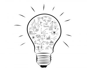bigstock-Light-bulb-with-drawing-graph-44465413